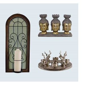 Candle Holders & Plates