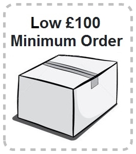Low £100 Minimum Order